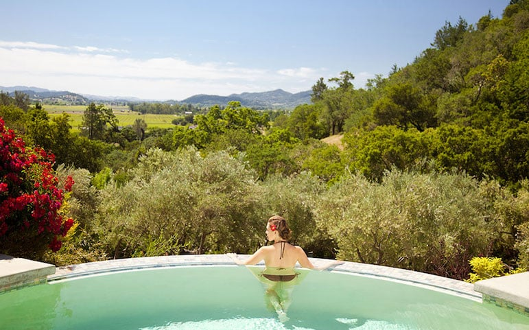 Luxury spa resorts - Auberge du Soleil in Napa Valley has a cabernet mud mask