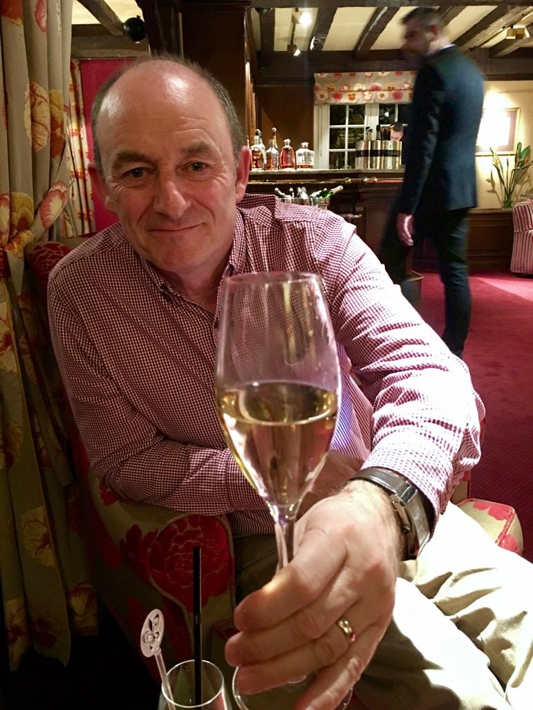 Relaxing in the Michelin star restaurant in the La Bireterie Hotel