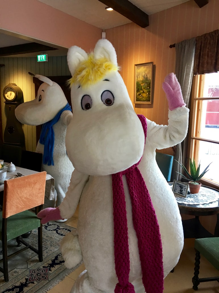 Being shown around the Moomin house