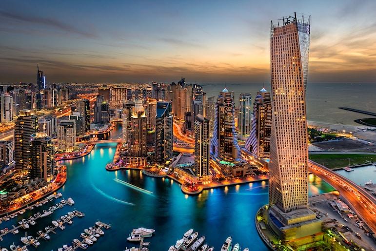 Dubai's cosmopolitan skyline