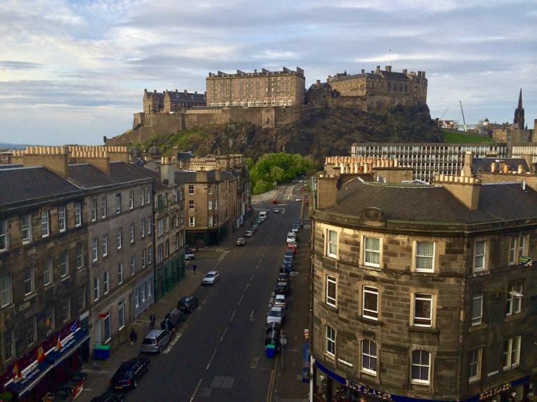 View of Edinburgh Castle from the DoubleTree by Hilton Edinburgh City Centre