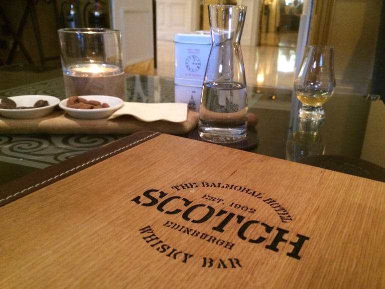 Whisky is a journey of flavour at The Balmoral Hotel in Edinburgh