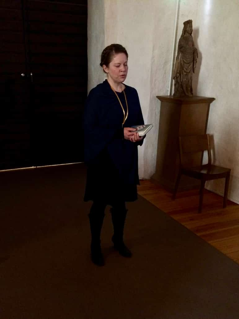 Larissa, sings to us in Naantali church