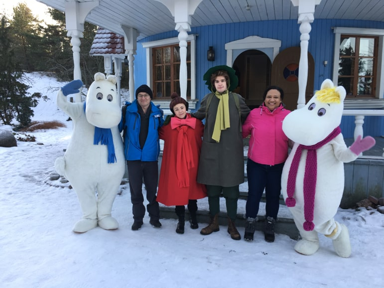 Meeting the Moomins