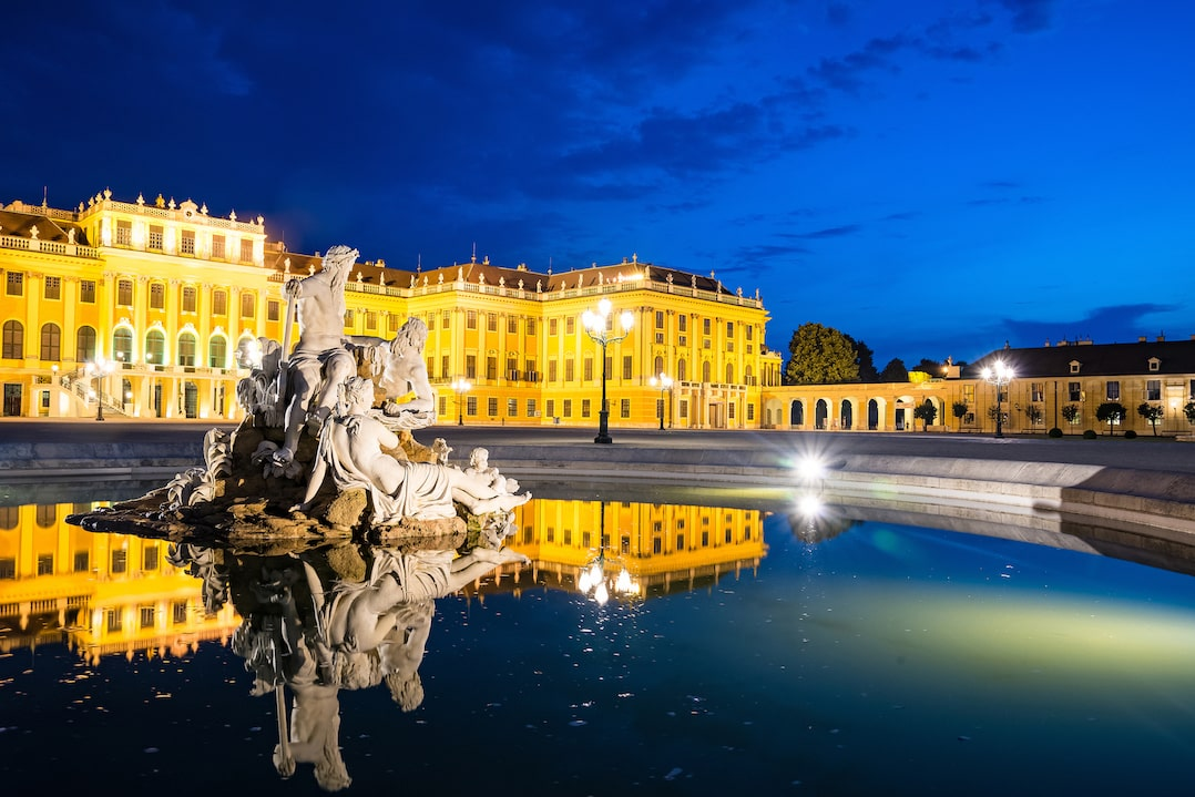 Schînbrunn Palace, Vienna at night