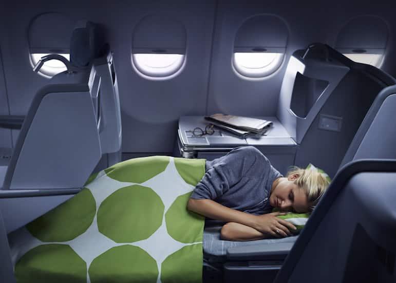 Sleeping in Finnair business class