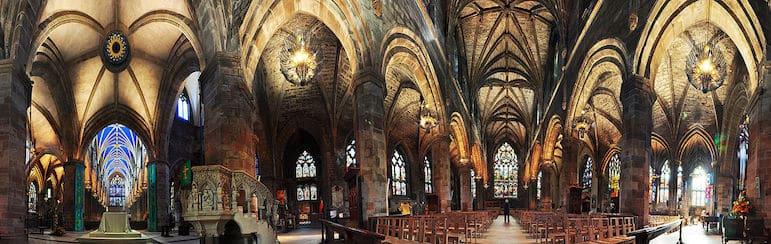The striking interior of St Giles Cathedral, Edinburgh | pic Gregg M. Erickson