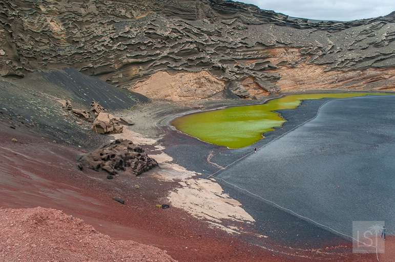 El Golfo is one of the many unusual landscapes of volcanic Lanzarote