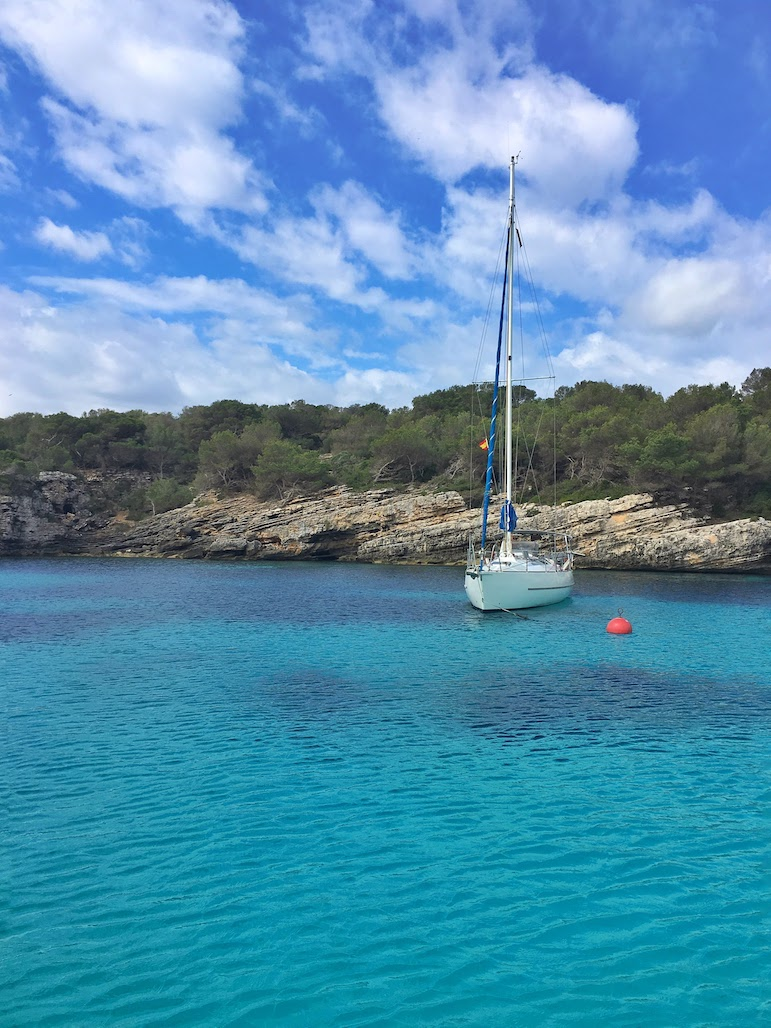 A perfect place to drop anchor, off the coast of Menorca