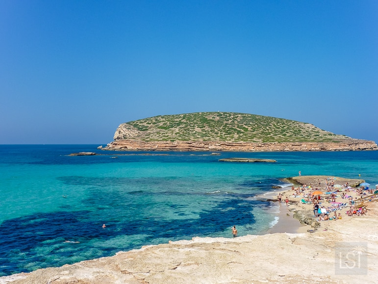 The blues of the White Isle, Cala Conta, in Ibiza