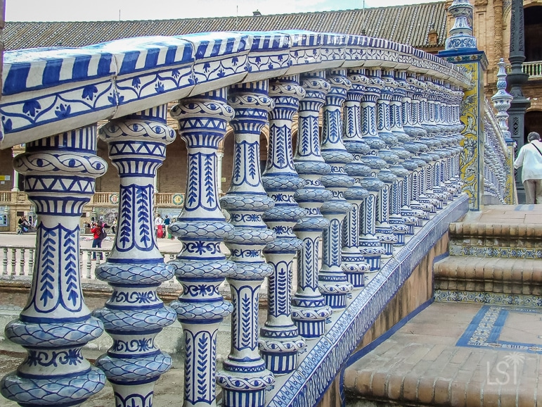 Seville's Plaza España is adorned in colourful tiles