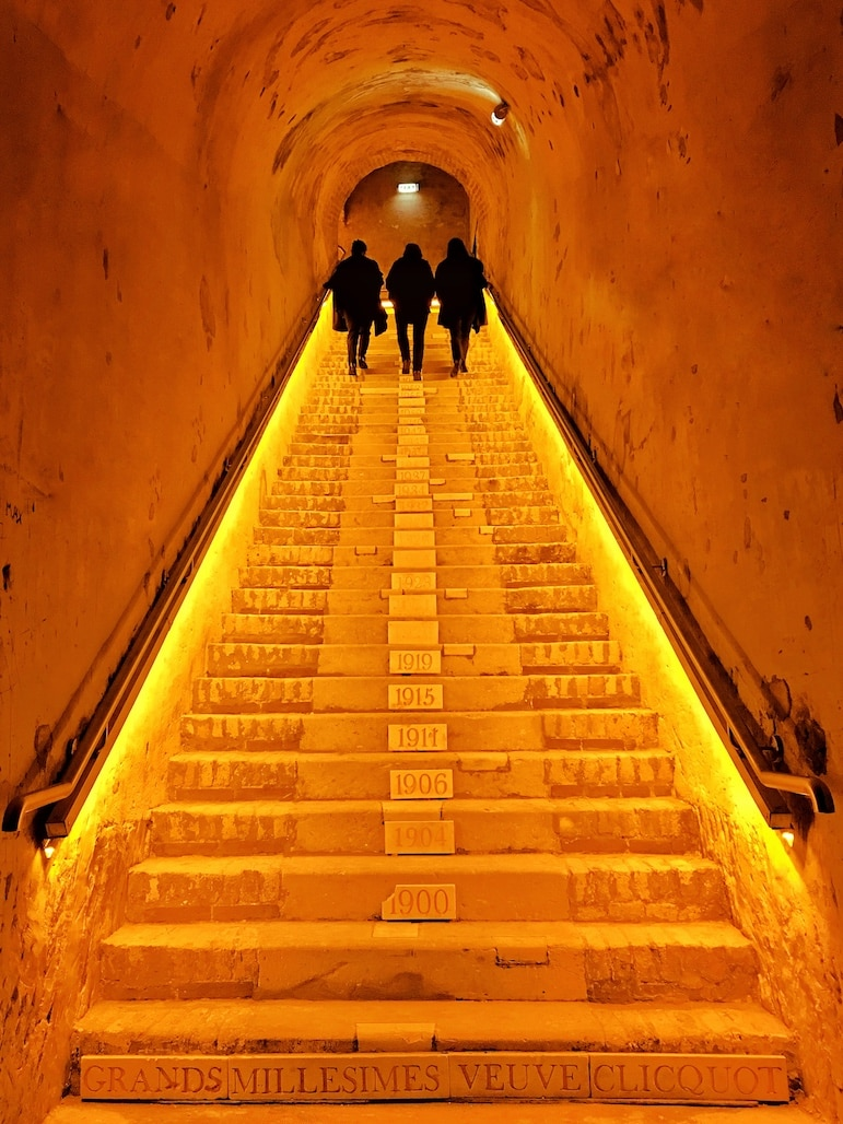 World's best wine destinations - UNESCO World Heritage cave cellars at Veuve Clicquot in Champagne, France