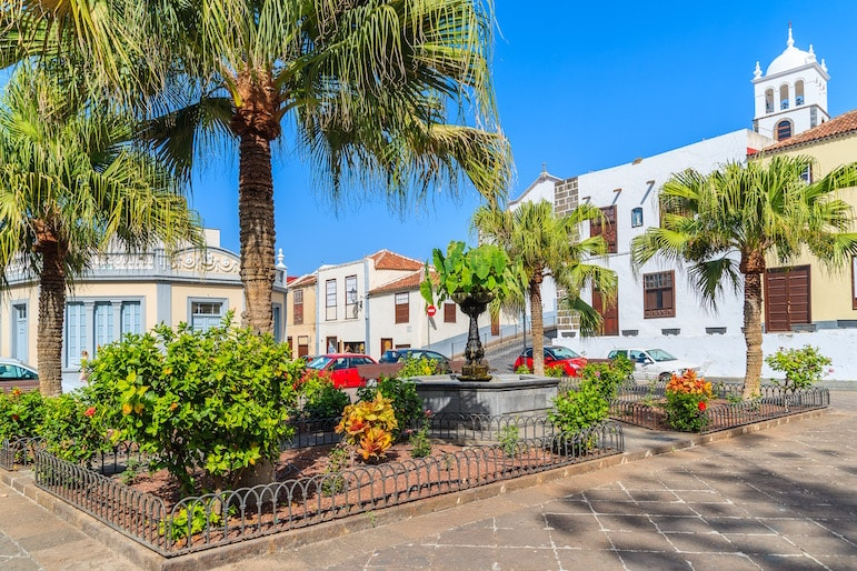 Places to visit in Tenerife - the picturesque square in Garachico Old Town