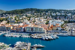 Best French cities - aerial view of Nice