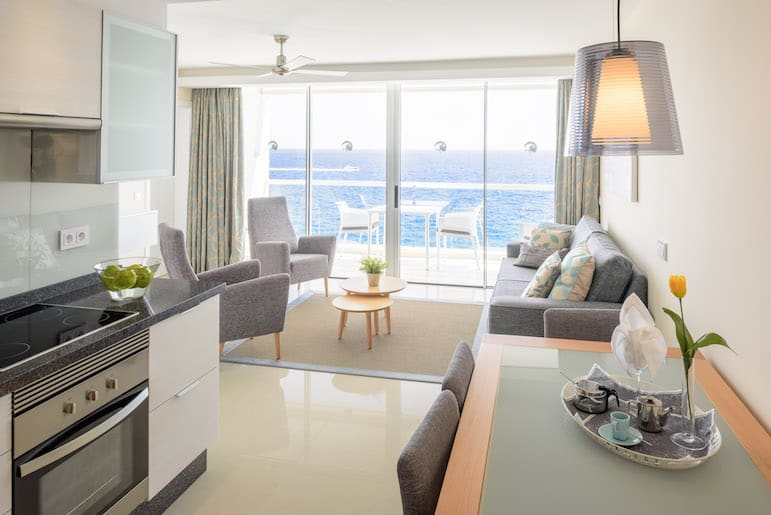 One of the best RCI resorts in Tenerife -Cliff Top Suite at Pearly Grey Ocean Club