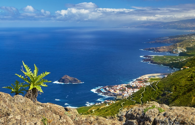 Places to visit in Tenerife - a view from the hills above Garachico