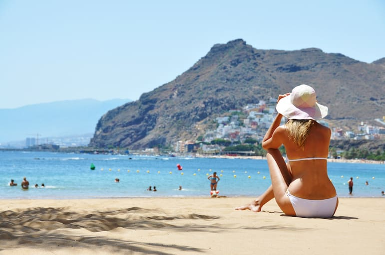 Relaxing on the beach, Tenerife