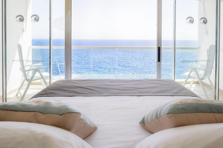 Who wouldn't want to wake up to this view? All you have to do is sign up to receive our inspirational holiday newsletter, and you could be opening your eyes to this view while staying at the Pearly Grey Ocean Club on the Canarian island of Tenerife.