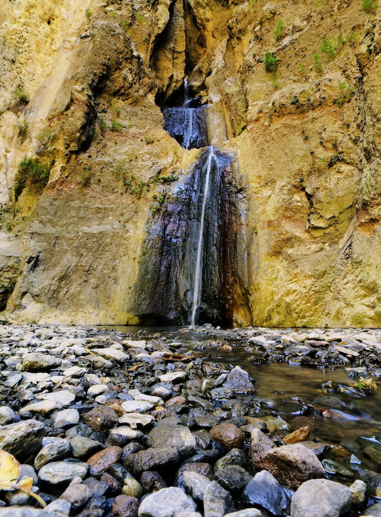The waterfall at the end of your hike through Barranco del Infierno is a welcome view