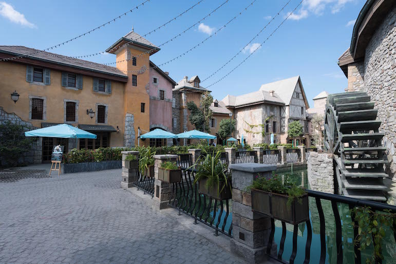 Riverland features an area in the style of a Medieval French village