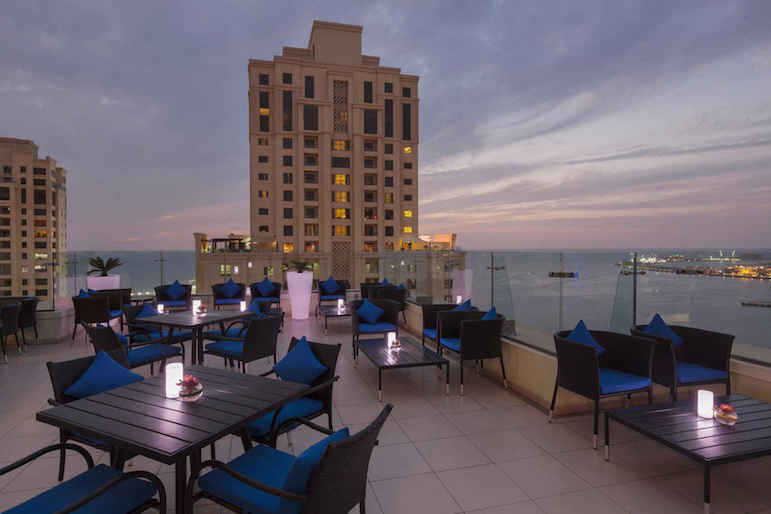 The Fogueira Lounge at Ramada Plaza Jumeirah Beach offers amazing city views