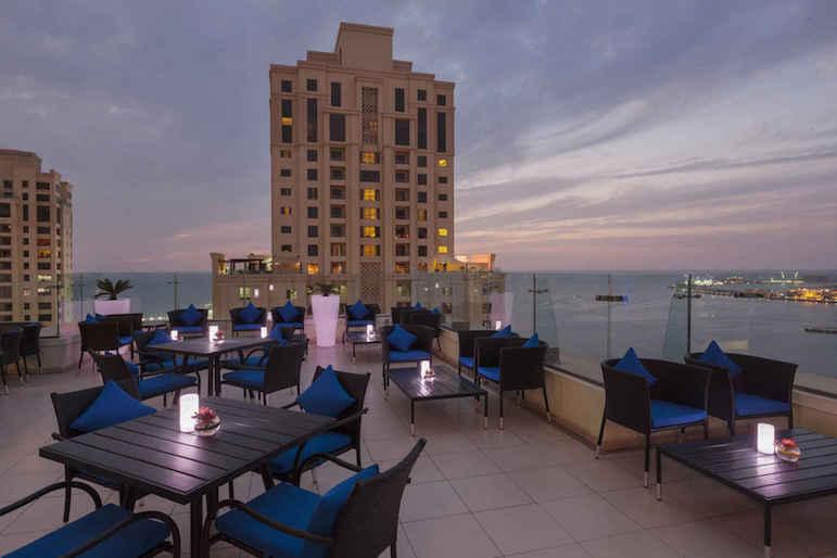 The Fogueira Lounge at Ramada Plaza Jumeirah Beach offers amazing city views