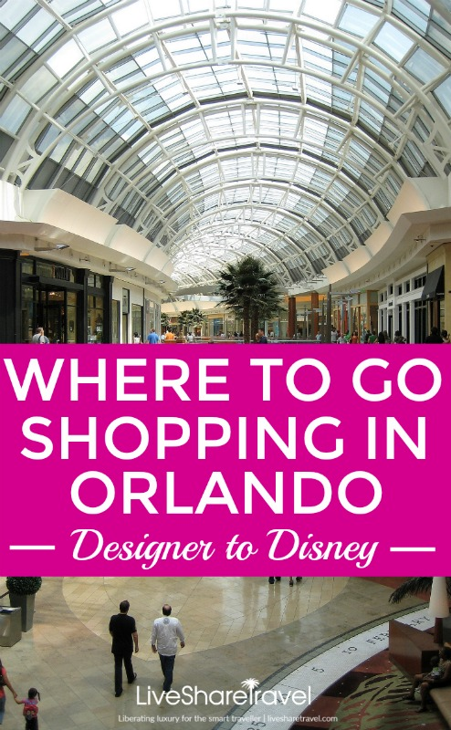 Where to go shopping in Orlando - from designer buys, to outlets and Disney memorabilia
