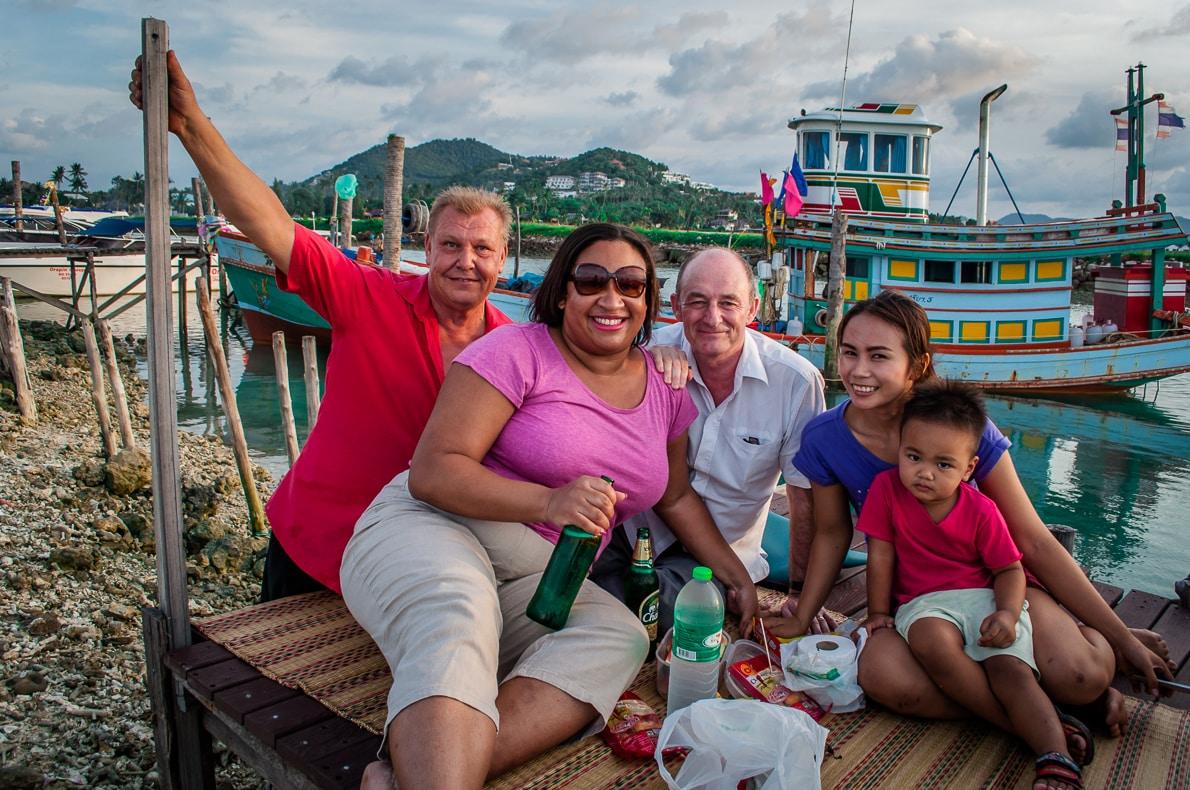 Unique travel experiences - dinner with the locals in Koh Samui, Thailand