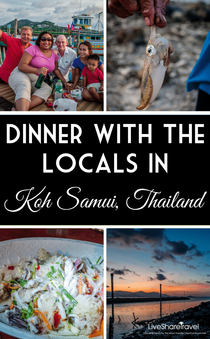 Dinner with the locals in Koh Samui, Thailand - one of the most generous and unique travel experiences around the world