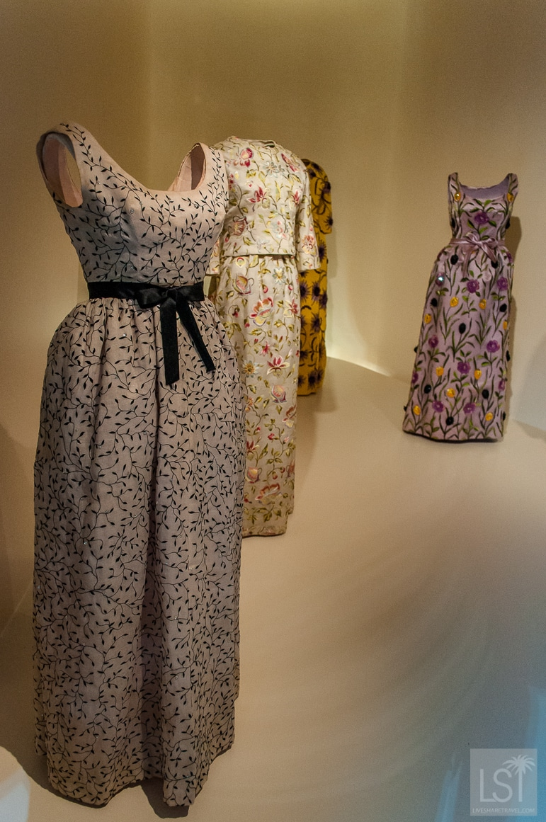 Embroidered Balenciaga gowns from the 1960s - see more at the Balenciaga exhibition London