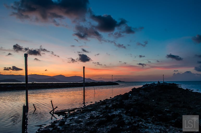 Evening falls across Koh Samui