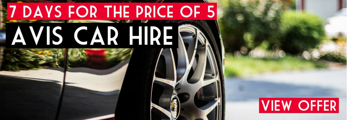 Car hire offer to complement your luxury holiday deal