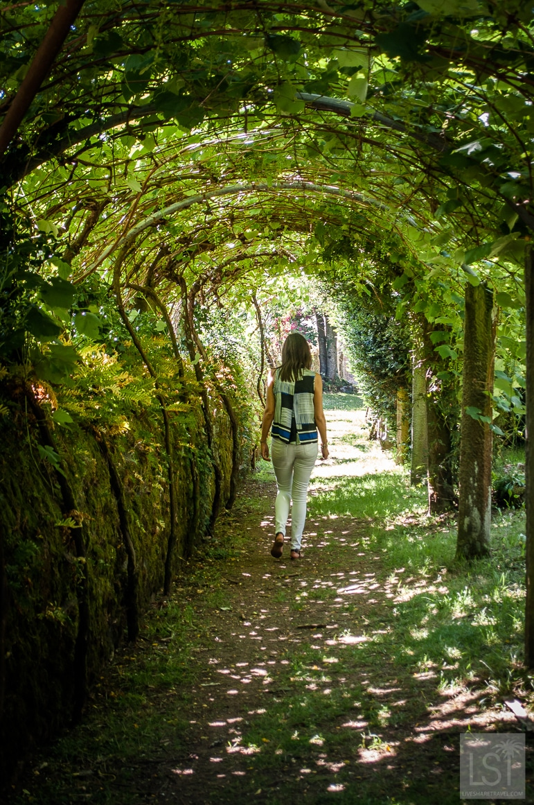 Wandering through the gardens at Pazo Rubianes in Galicia's Rías Baixas