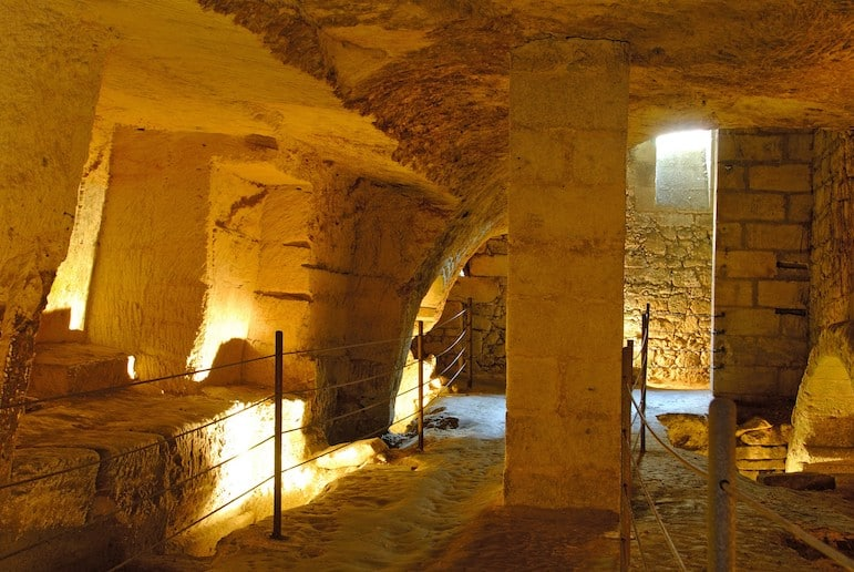 Visit the Catacombs on an underground tour - one of the most unusual things to do in Saint-Emilion | Pic: Saint-Emilion Tourisme