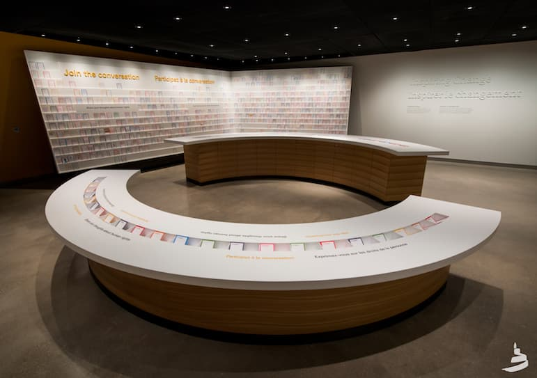 The museum opens the floor up to visitors to join the conversation of what they wish for the future and how to inspire change | Pic: Canadian Museum for Human Rights