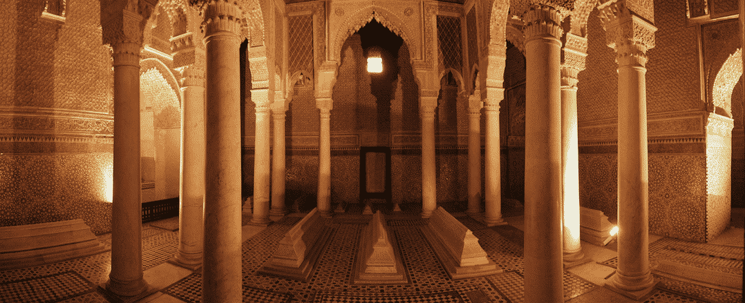 Inside the Saadian Tombs | pic: Frank Douwes