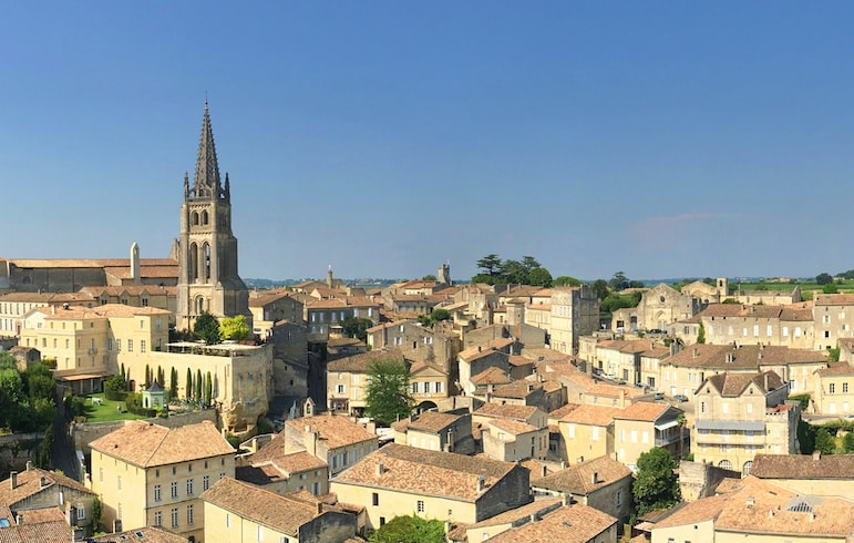 View of the town from the King's Keep - a must-do in Saint-Emilion