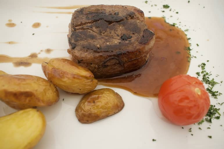 A perfectly tender duck breast with potatoes and tomato made the ideal fill for lunch