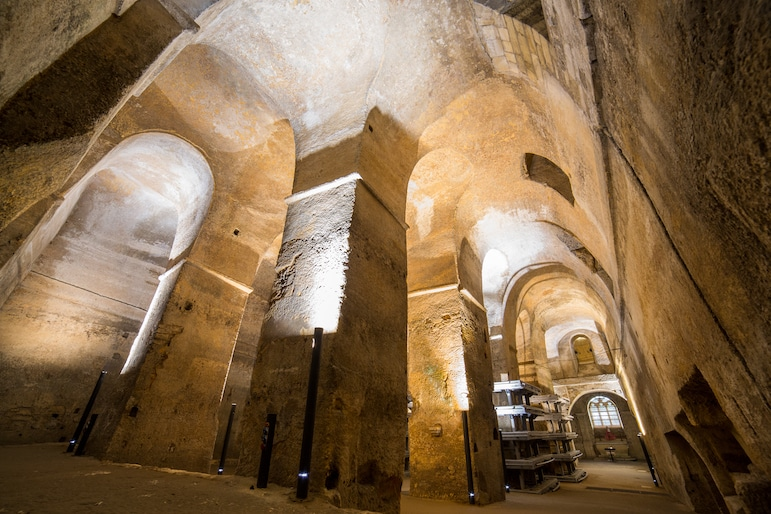 For things to do in Saint-Emilion, the Monolithic Church is deceivingly huge and full of legendary stories | Pic: Saint Emilion Tourism