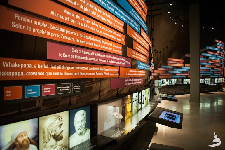 The colourful exhibits at the Canadian Museum for Human Rights make an engaging thing to do in Winnipeg | Pic: Canadian Museum for Human Rights