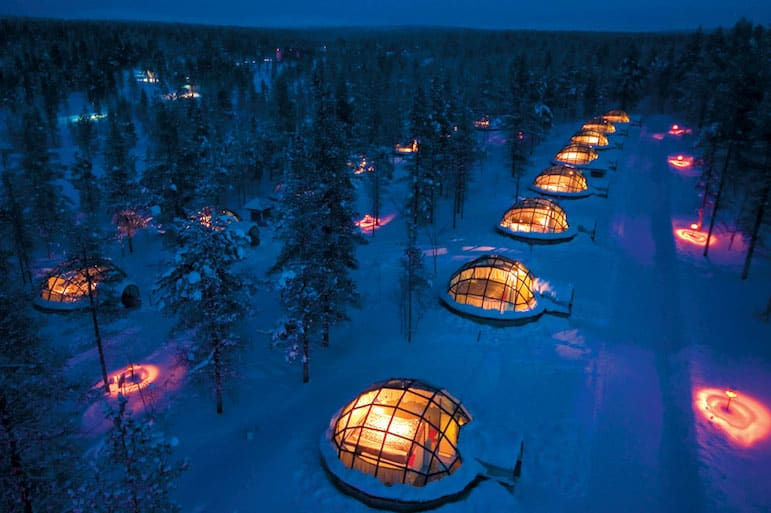 A dream location for holidays to Lapland, check into Kakslauttanen for a romantic break in Finland | Pic: Greenland Travel