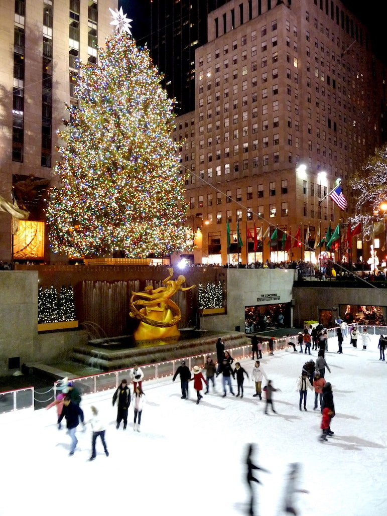 Ice skating in New York at the Rockefeller Center | Pic: SimonPix