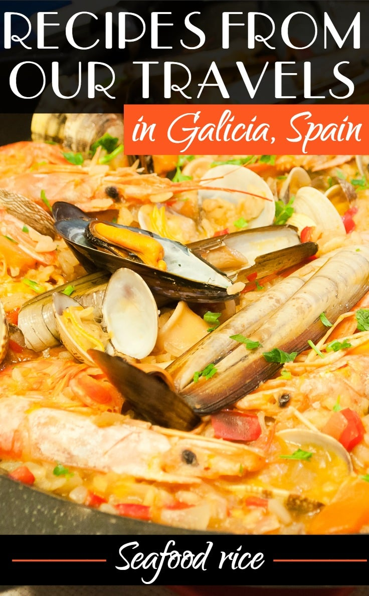 Recipes from our travels in Galicia, Spain - Seafood rice
