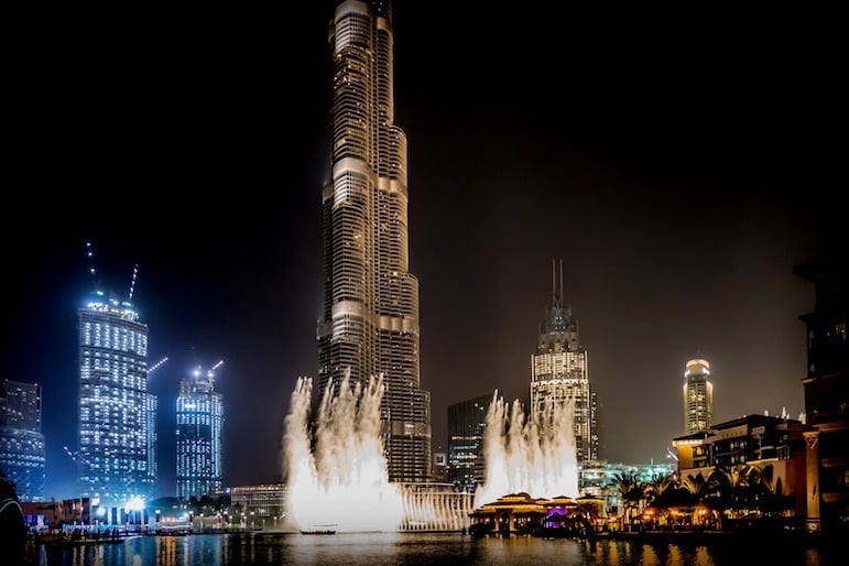 The bright lights and entertainment are the perfect combination for celebrating New Year in Dubai