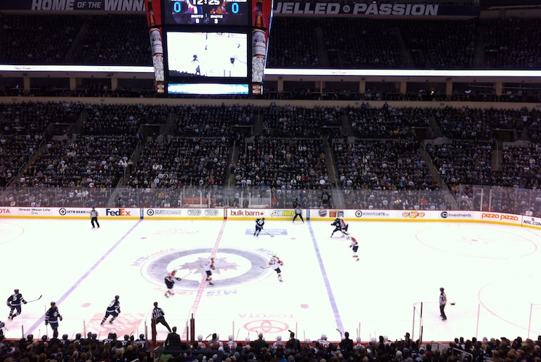 Things to do in Winnipeg - book up for a Winnipeg Jets game Pic Sajeewa Welendagoda