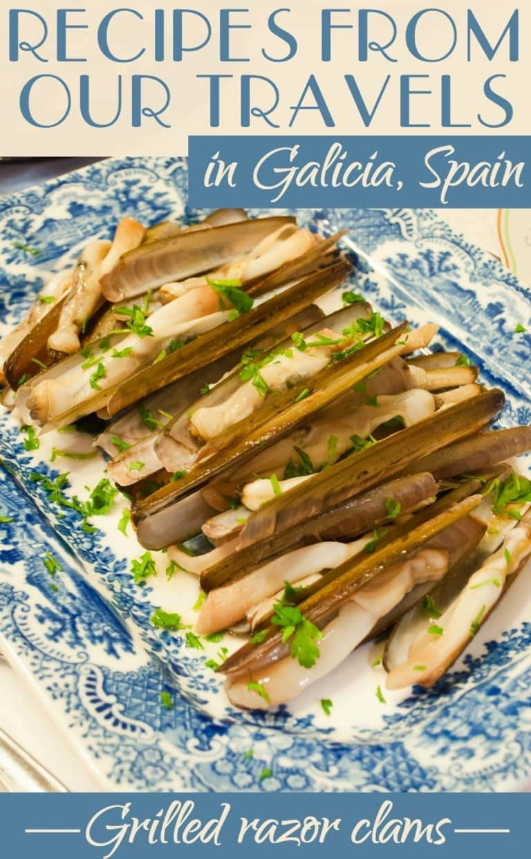 Recipes from our travels in Galicia, Spain - Grilled razor clams