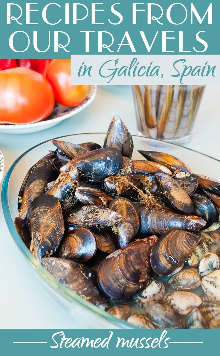 Recipes from our travels in Galicia, Spain - Steamed mussels