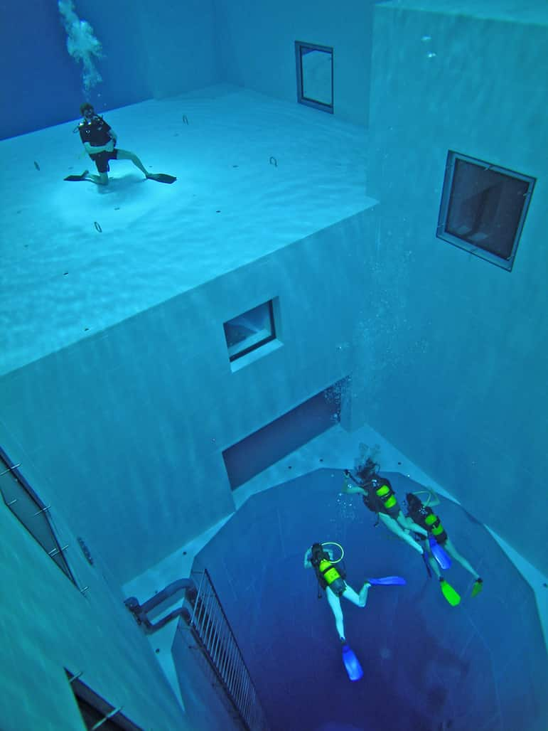 Nemo33 in Belgium - One of the world's best pools and the deepest indoor pool | Pic: Nemo33