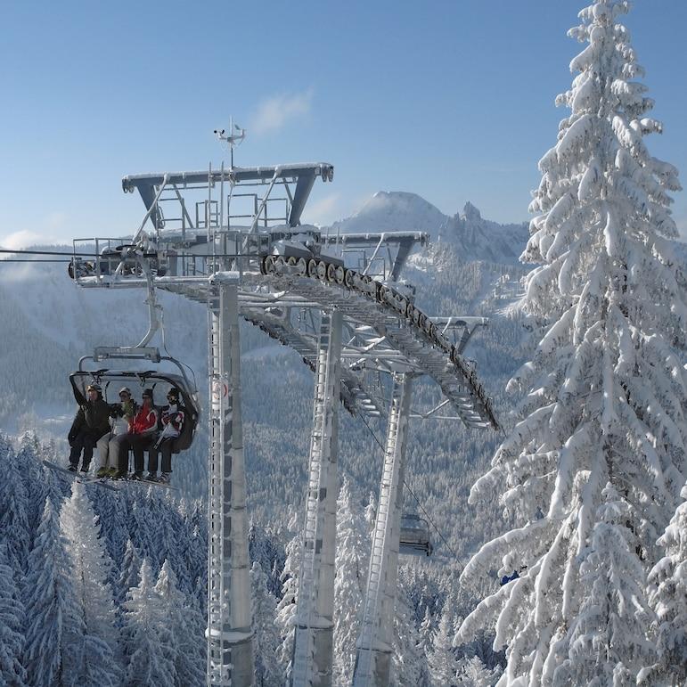 Ski Lift at Alpenbahnen Spitzingsee