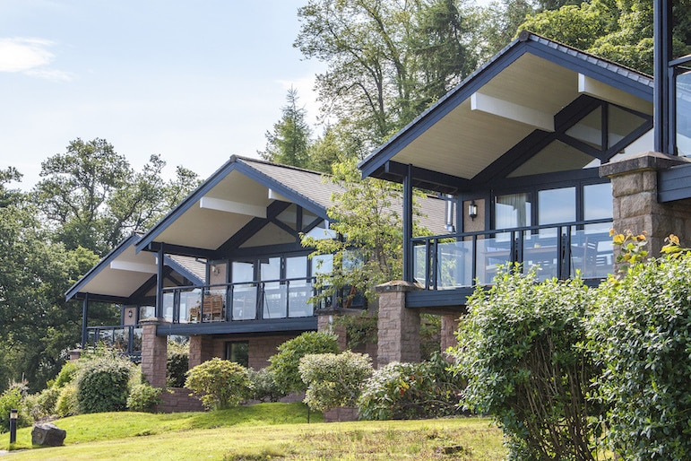 2 bedroom detatched lodge at Cameron House, Loch Lomond Scotland